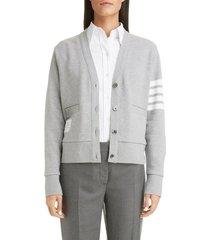 women's thom browne 4-bar cotton cardigan