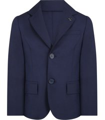 fay blue jacket for boy with logo