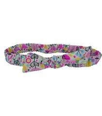 faixa de cabelo ecokids place com elástico e laço jardim multicolorido