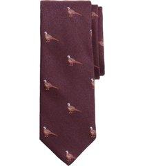 corbata pheasant morado brooks brothers