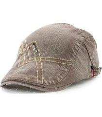 uomini denim lavaggio beret cap cappello della visiera casual outdoor sun fd0944ffd534