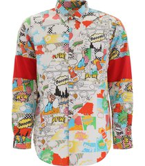 comme des garçons shirt fancy comics shirt