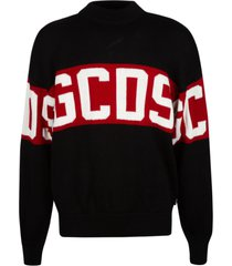gcds logo embroidered sweater