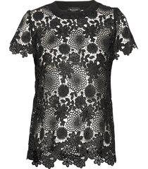 3168 - kaya t-shirts & tops short-sleeved svart sand