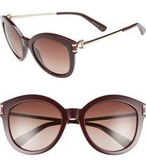 longchamp 55mm cat eye sunglasses in wine at nordstrom