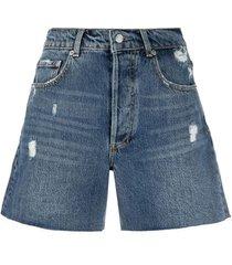 boyish jeans distressed denim shorts