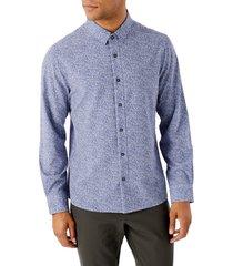 men's 7 diamonds rio grande button-up performance shirt, size medium - blue