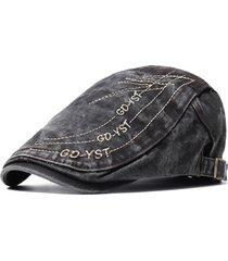 berretto da uomo casual da berretto primavera e da estate in cotone traspirante cappuccio regolabile da ricamo