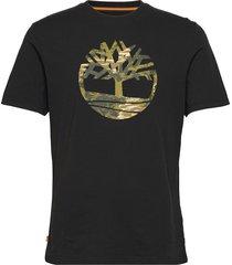ss ft tree tee t-shirts short-sleeved svart timberland