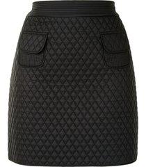 paule ka diamond-quilted mini skirt - black