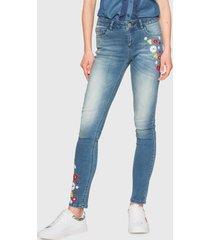 jeans desigual azul - calce ajustado