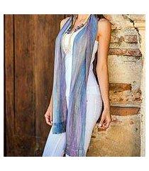 rayon chenille scarf, 'solola lavender' (guatemala)