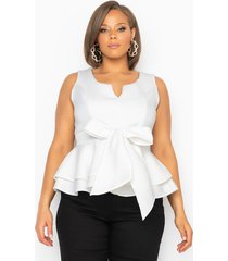 akira plus one more time sleeveless blouse with bow