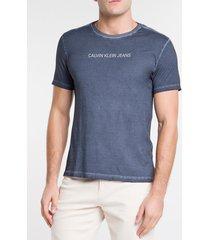 camiseta masculina básica estonada marinho calvin klein jeans - pp