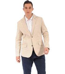 blazer color siete para hombre - beige