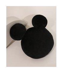 almofada mickey mouse preta