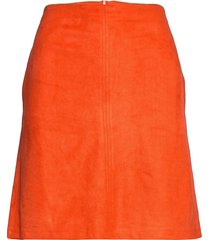 skirts woven kort kjol orange esprit casual