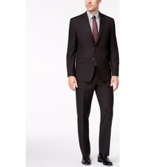 marc new york by andrew marc men's classic-fit stretch black micro-grid suit
