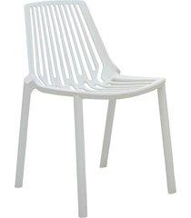 conjunto 04 cadeiras morgana branca rivatti - branco - dafiti