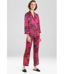 delphine pajamas, women's, pink, silk, size xl, josie natori