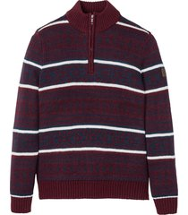 pullover con cerniera in stile norvegese regular fit (rosso) - bpc selection
