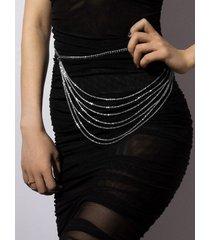 minimalist multilayered waist chain