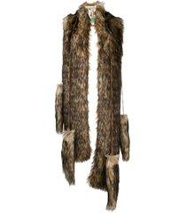 dsquared2 scarf eco fur