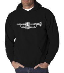 la pop art men's word art hoodie - trumpet