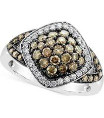 le vian chocolate diamond (3/4 ct. t.w.) & vanilla diamond (1/5 ct. t.w.) ring in 14k white gold