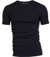 garage basis t-shirt ronde hals semi bodyfit zwart