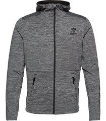 hmlaston zip hoodie hoodie trui grijs hummel