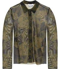 patterned overhemd