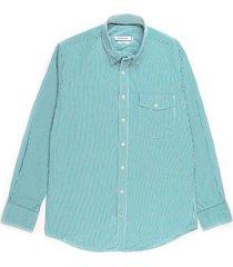 camisa casual manga larga de rayas slim fit para hombre 94209