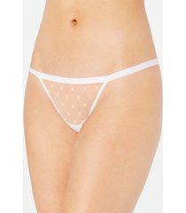 dkny monogram mesh thong underwear dk5029