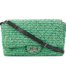 chanel pre-owned 2008 maxi messenger bag - green