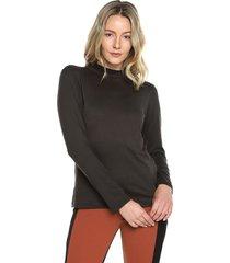 blusa manga larga negra natural basic