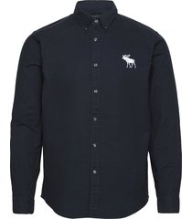 anf mens wovens overhemd casual blauw abercrombie & fitch
