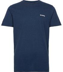 essential logo t-shirt navy t-shirts short-sleeved blå bls hafnia