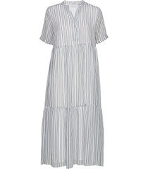 flow dress maxiklänning festklänning blå camilla pihl