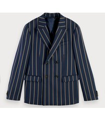 scotch & soda double-breasted blazer van een wolmix