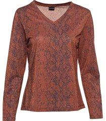 maglia pitonata in lurex (marrone) - bodyflirt