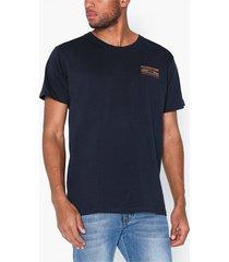 jack & jones jormanjaro tee ss crew neck t-shirts & linnen mörk blå