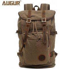 mochila para hombre, mochila con cordón en la espalda-verde