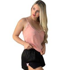 pijama pantalón corto rosado adriana arango 8687