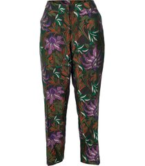 poumas flat front floral trouser