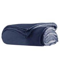 cobertor casal naturalle fashion soft premium 180x220cm marinho