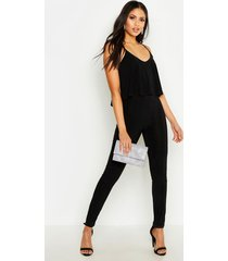 tall strappy frill overlay jumpsuit