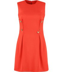 versace jewel buttons sheath dress