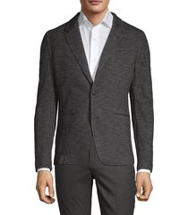 john varvatos star u.s.a. men's erik slubbed jacket - charcoal - size 42