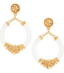 women's gas bijoux mariza hoop drop earrings